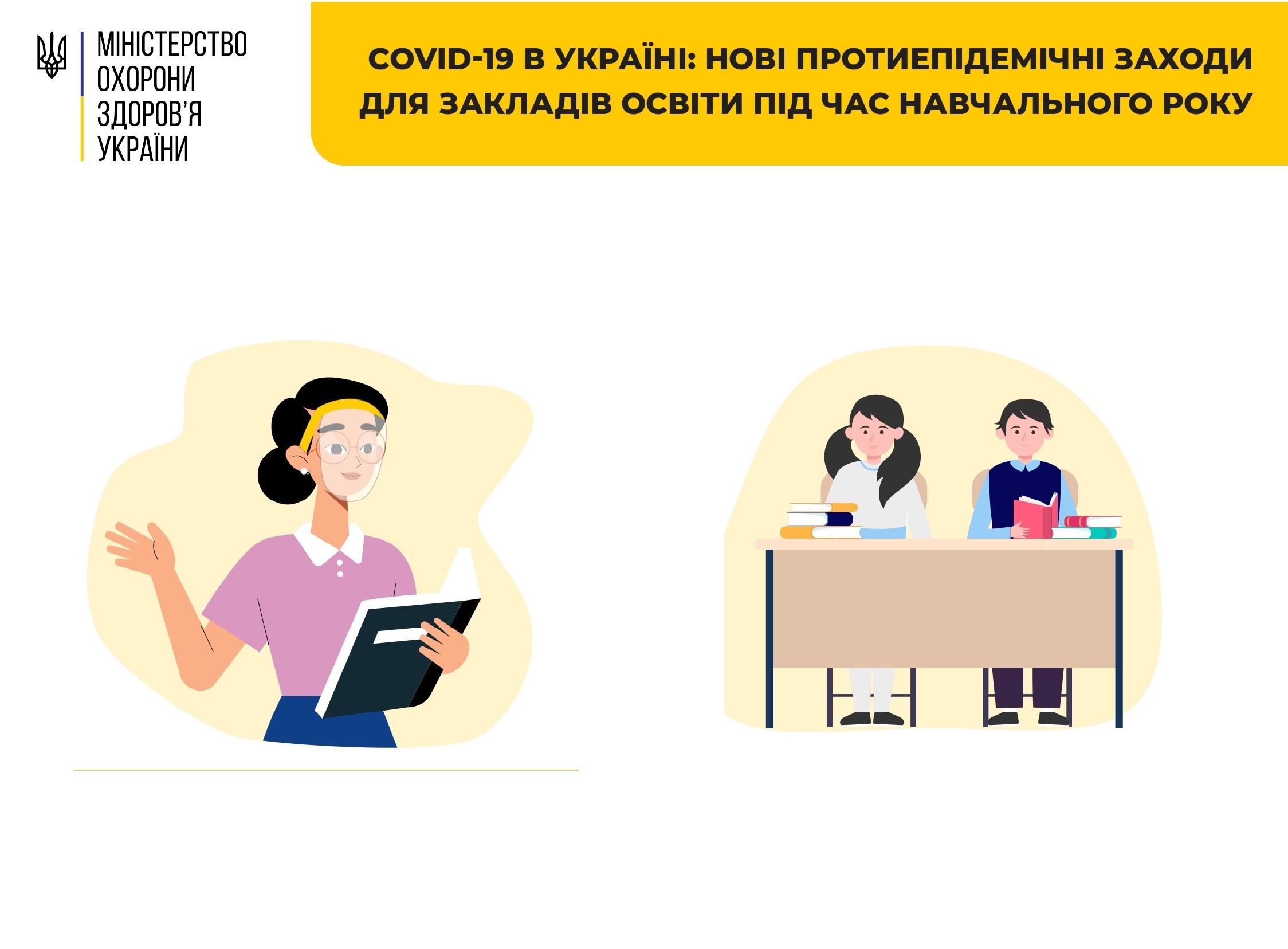 МОЗ розробило серію рекомендацій та правил безпечного навчання дітей у освітніх закладах.